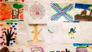 Kids drawings and paintings