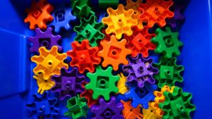 Building gears legos